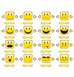 Set emoticons vector