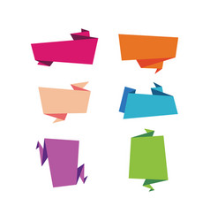 set of flat ribbons banners isolated vector image