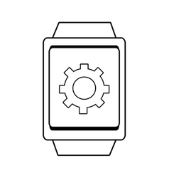 Square watch and settings icon graphic vector