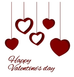 st valentine card vector image vector image