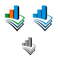 Stock exchange and paper logo template design vector