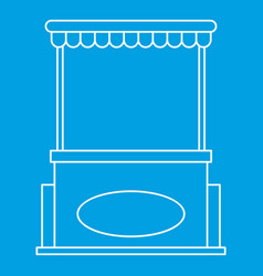 Street shopping counter icon outline style vector