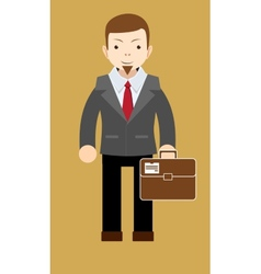 Successful businessman shows that everything is OK vector