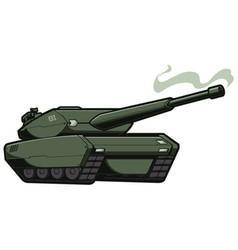 Tank on white vector