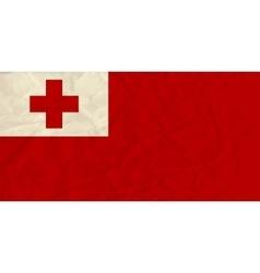 Tonga paper flag vector image