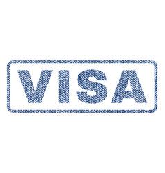 Visa textile stamp vector