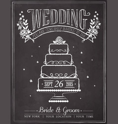 wedding invitation vintage card vector image