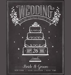wedding invitation vintage card vector image