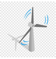 Windmill for electric power production isometric vector