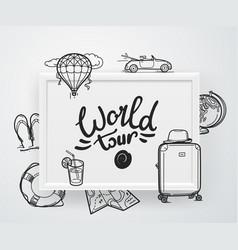 World tour concept vector