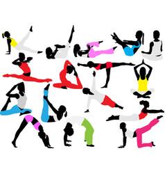 Yoga pilates vector