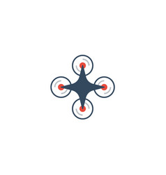 flat icon drone element of vector image