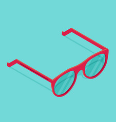 Isolated isometric pink sunglasses vector
