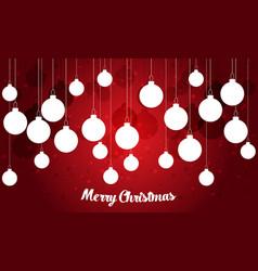 retro decorative christmas balls christmas card vector image