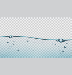 transparent blue water clear background template vector image vector image