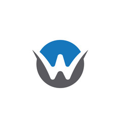w letter logo template vector image