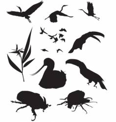 wild silhouettes vector image vector image