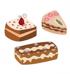 chocolate cakes vector image vector image
