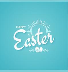 easter spring vintage lettering background vector image vector image