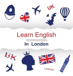 Learn english in London poster vector image