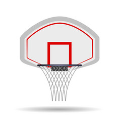 basketball hoop isolated on white background vector image