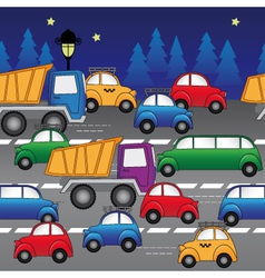 cars on road vector image vector image