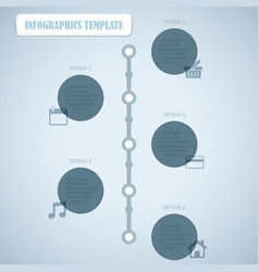 Circles With Shadows Infographics Template vector image vector image