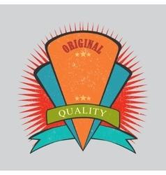 Retro vintage badge with texture vector image