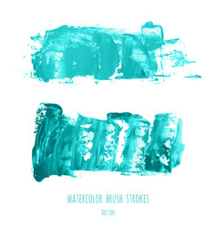 set of turquoise blue oil painted texture vector image