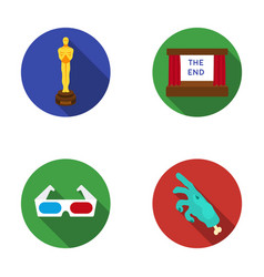 award oscar movie screen 3d glasses films and vector image