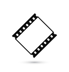 Blank film strip icon isolated on white background vector image