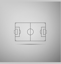 football field or soccer field icon vector image