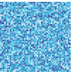 pattern blue tiles texture vector image vector image