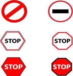 Sign stop and ban vector image vector image