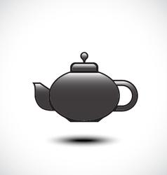 Tea pot icon vector image vector image
