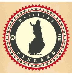 Vintage label-sticker cards of Finland vector image vector image