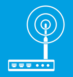 wifi router icon white vector image