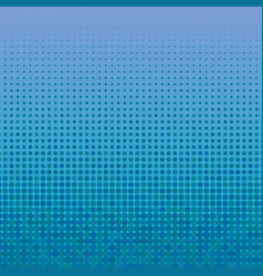 2d abstract blue halftone dotted pattern back vector image