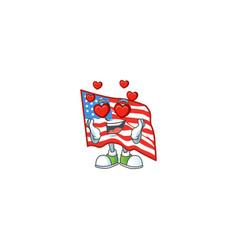 A romantic usa flag cartoon mascot design style vector