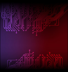 abstract technology circuit board background vector image