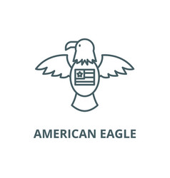 american eagle line icon american eagle vector image