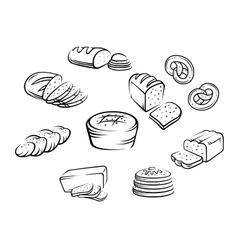 Bakery food vector image