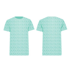 Blue t shirt butterfly pattern vector