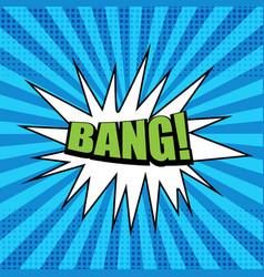 Bright comic green bang wording template vector