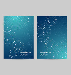 brochure template layout design geometric pattern vector image