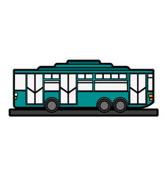 bus sideview icon imag vector image
