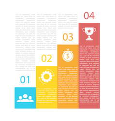 business infographics for presentation vector image