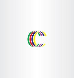 c letter colorful symbol sign logo vector image