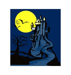 Castle with Dead Tree vector