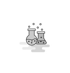 chemical flask web icon flat line filled gray icon vector image